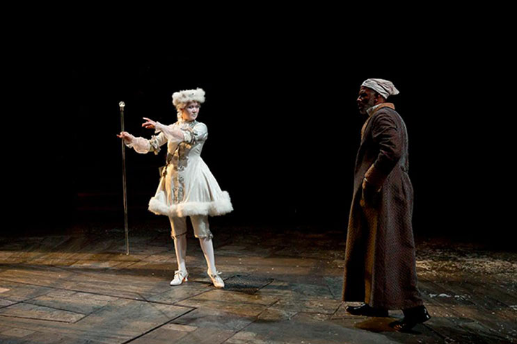 Carol Keiko Green and Timothy McCuen Piggee in A Christmas Carol