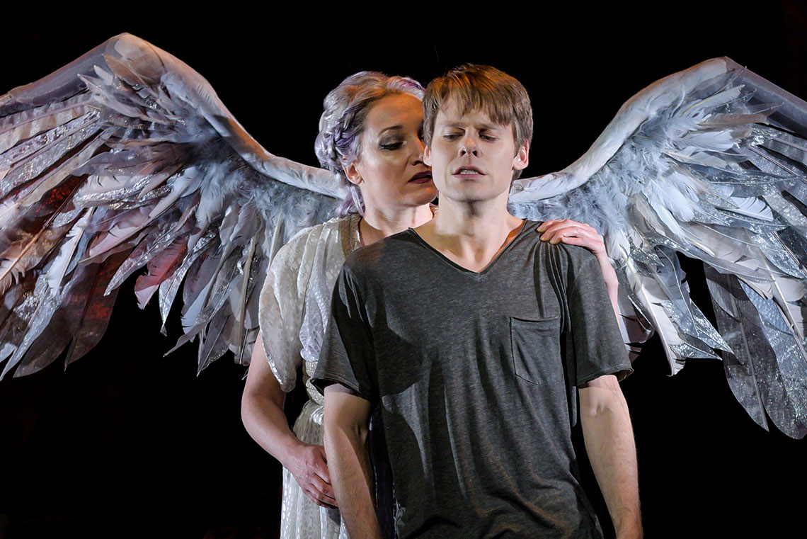 Francesca Faridany and Randy Harrison in Angels in America