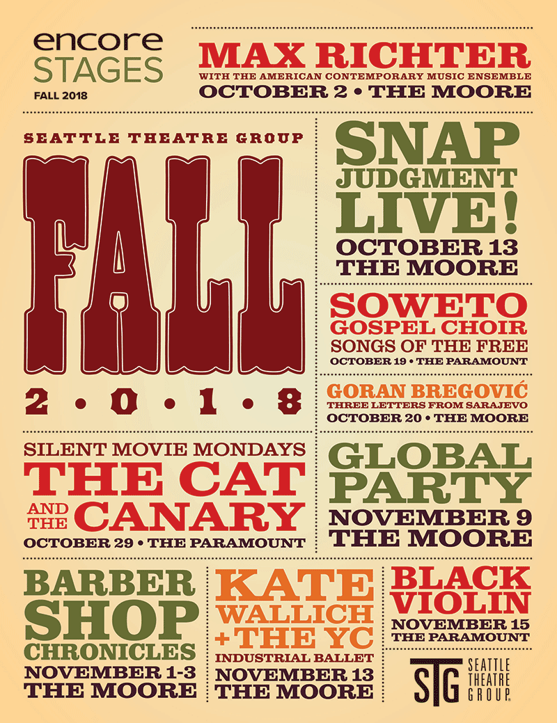 Seattle Theatre Group - Fall 2018