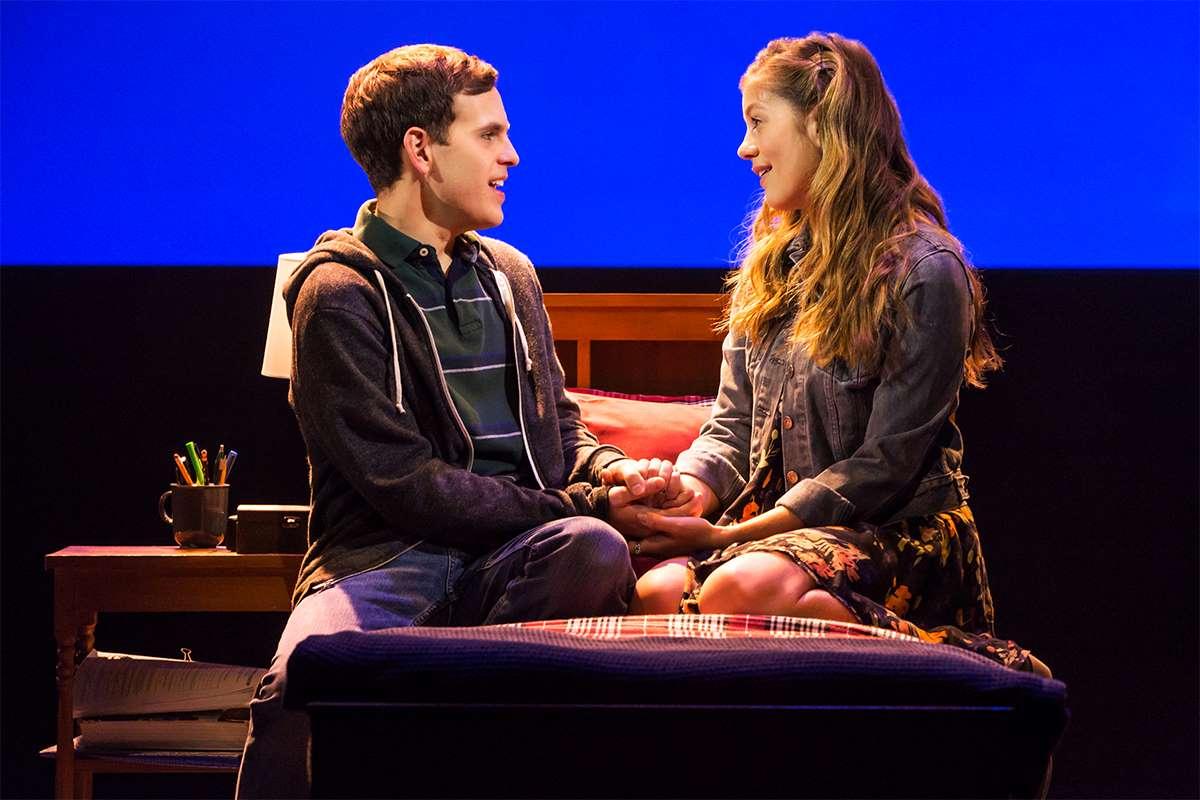Taylor Trensch and Laura Dreyfuss on Broadway in Dear Evan Hansen