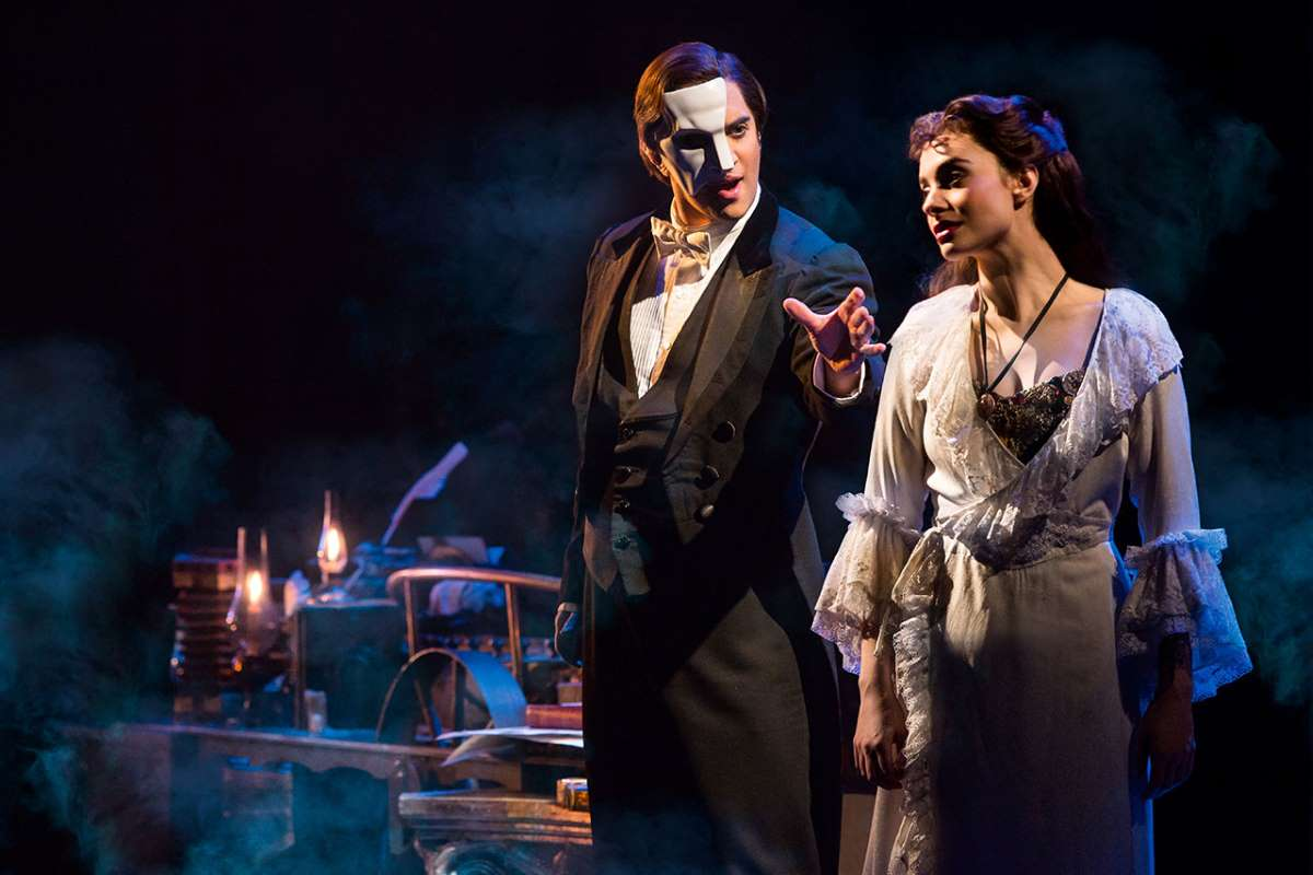 Cooper Grodin and Julia Udine in Phantom of the Opera