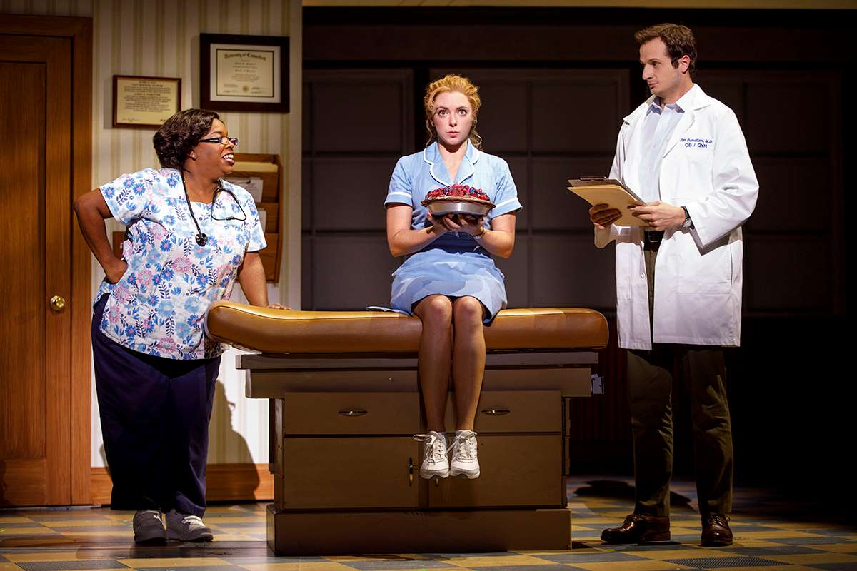 Maiesha McQueen, Desi Oakley and Bryan Fenkart in the National Tour of Waitress