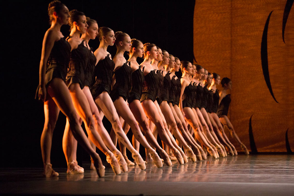 PNB company dancers in Crystal Pite's Emergence