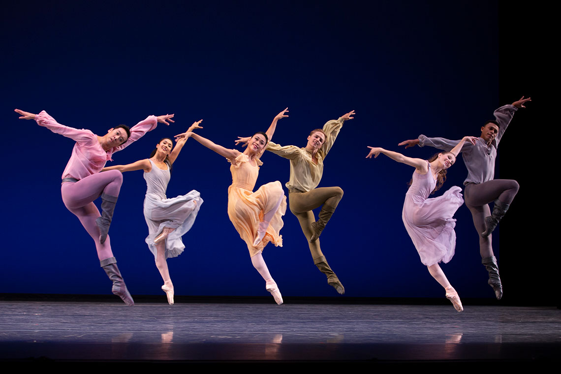PNB company in Jerome Robbins Dances at a Gathering