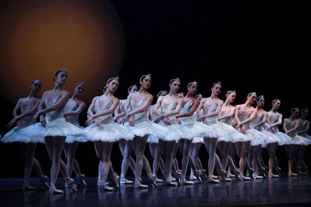 Company dancers in Kent Stowell's Swan Lake