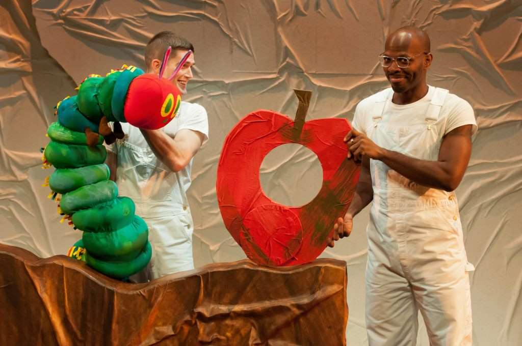 Spencer Wolfe and Emmanuel Elpenord in SCT's the Very Hungry Caterpillar Show