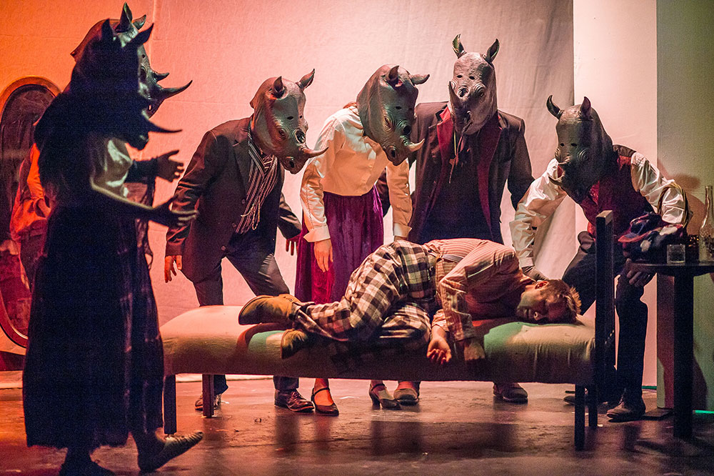 Birdbath Theatre's 2017 production of Rhinoceros