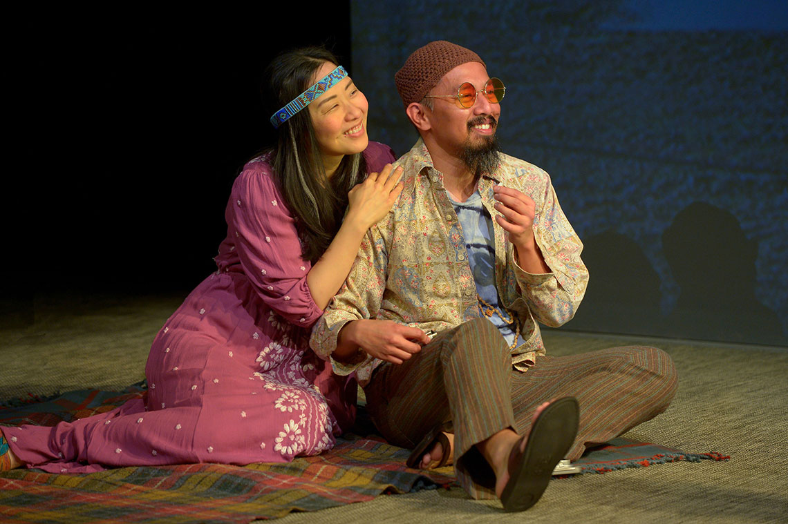 Cindy Im and Jomar Tagatac in Vietgone