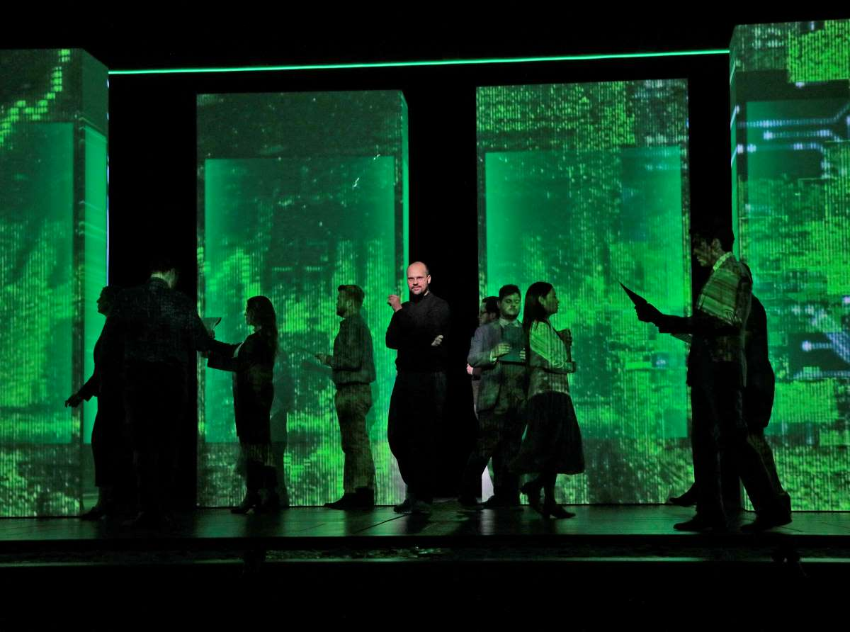 Santa Fe Opera production of The (R)evolution of Steve Jobs