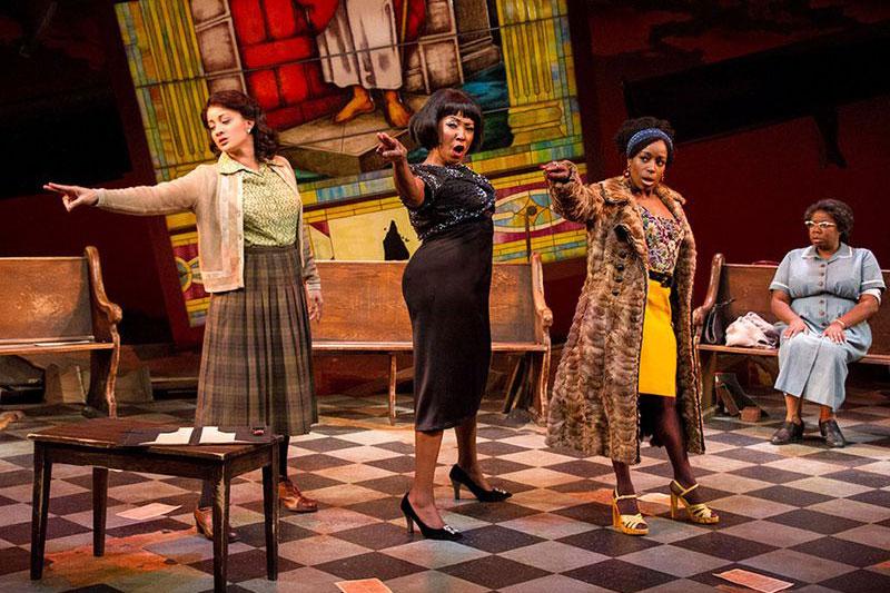 Tony L. Marti, Harriett D. Foy, Felicai Curry and Theresa Cunningham in Mead Center production of Nin Simone