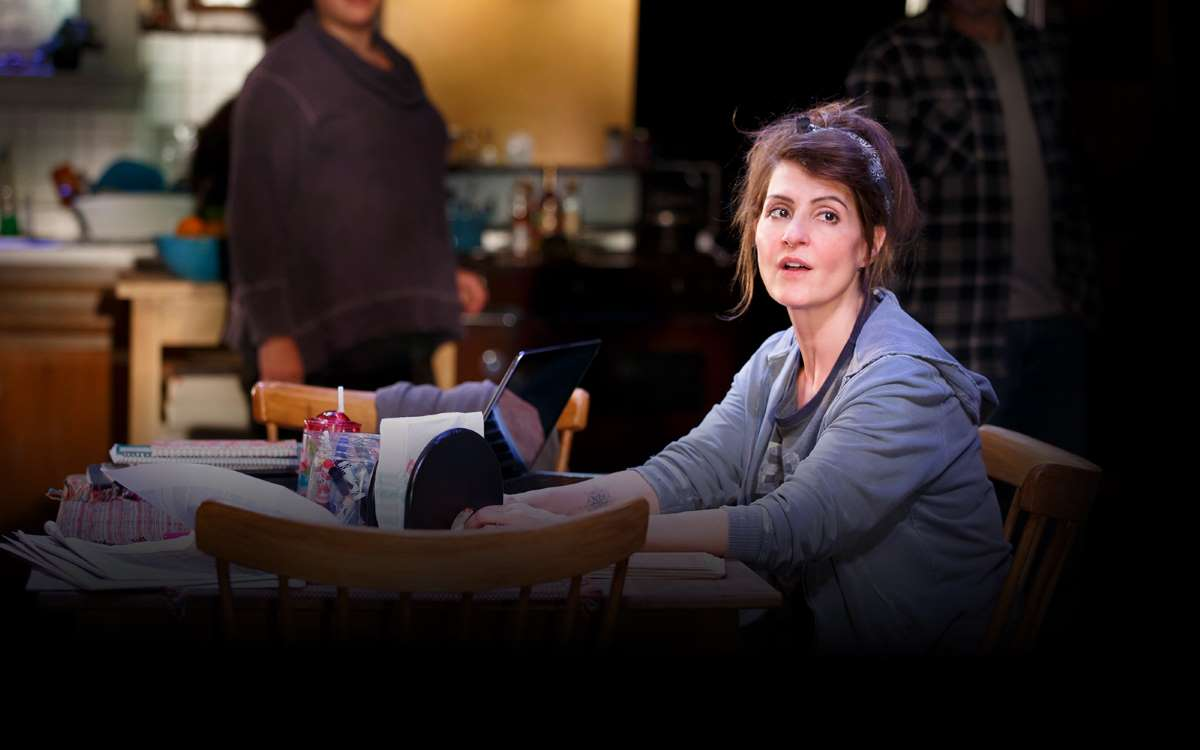 Nia Vardalos in Public Theatre's production of Tiny Beautiful Things