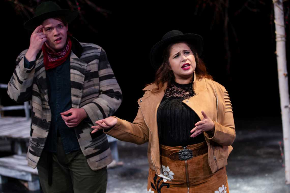 Chad Sommerville and Pilar O'Connell in As You Like It
