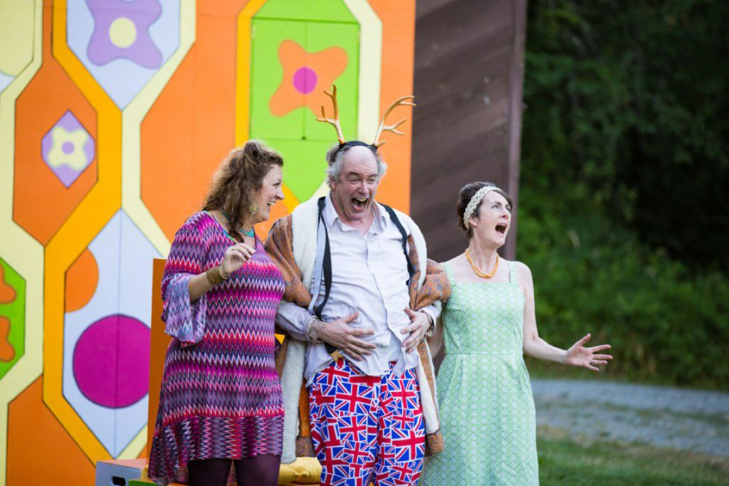 Annie Lareau, Charles Leggett, and Eleanor Moseley in The Merry Wives of Windsor