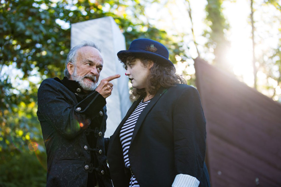 David Pichette and Meme Garcia in King Lear