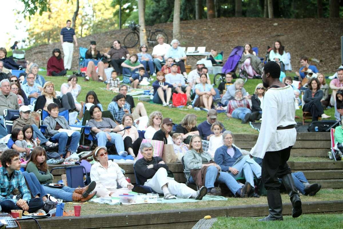 Reginald Andre Jason as Macbeth in 2011 Wooden O production of Macbeth.