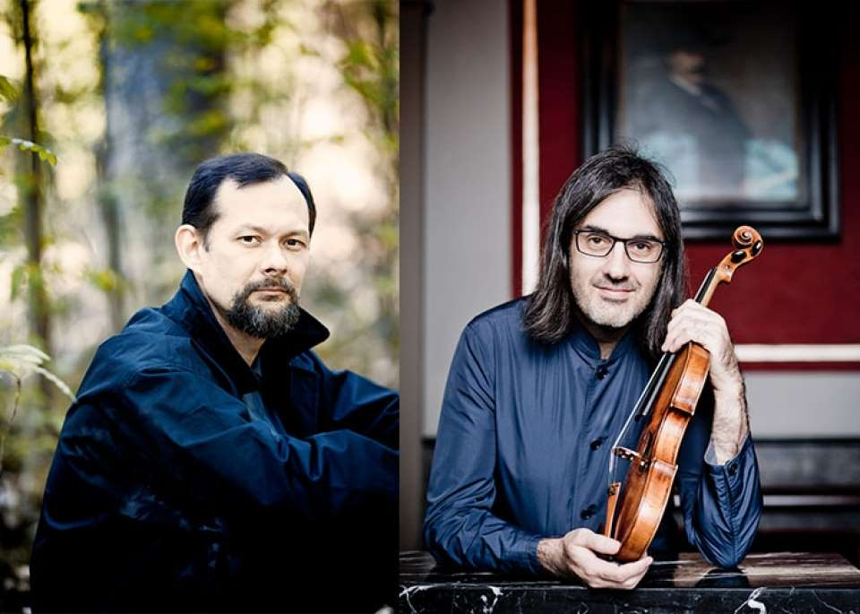 Enrico Pace (left) and Leonidas Kavakos (right)