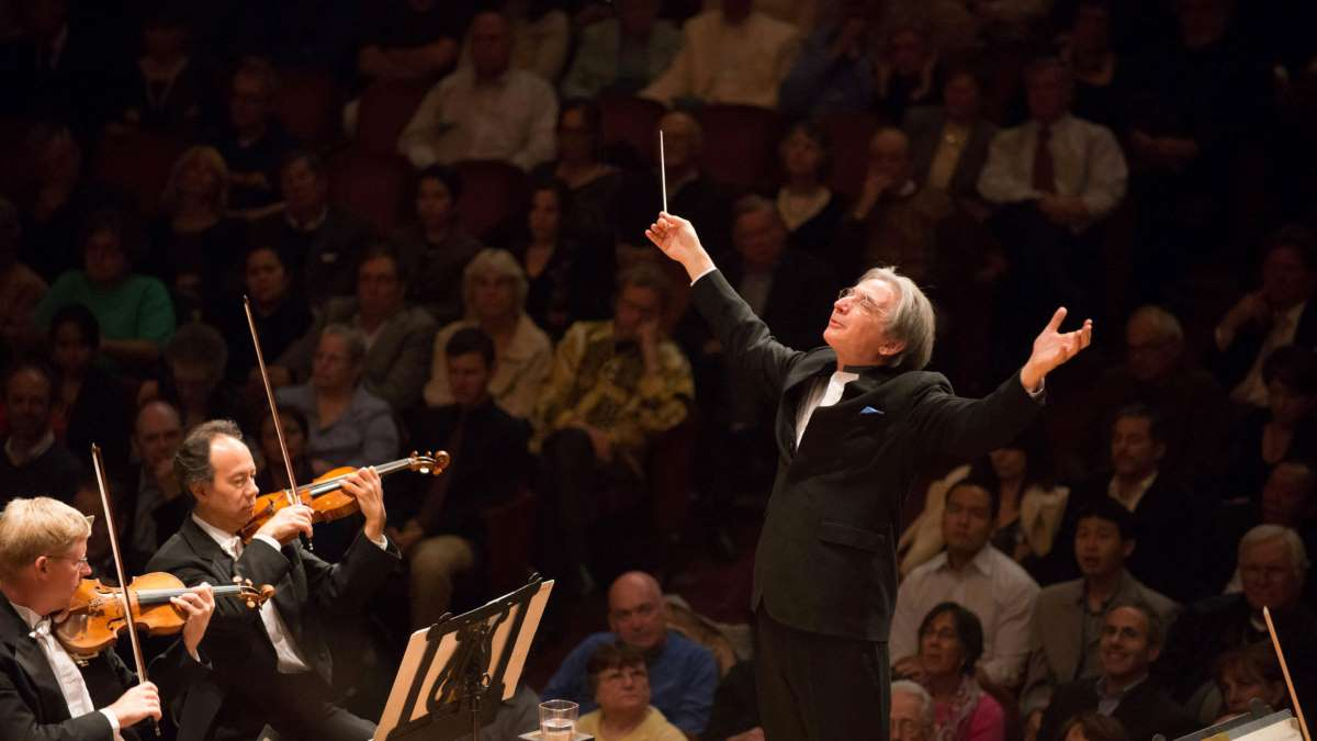 photo of Michael Tilson Thomas and the San Francisco Symphony