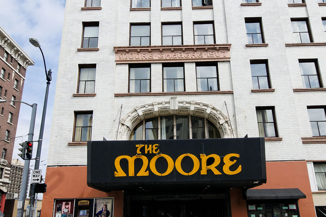 The Moore Theatre exterior