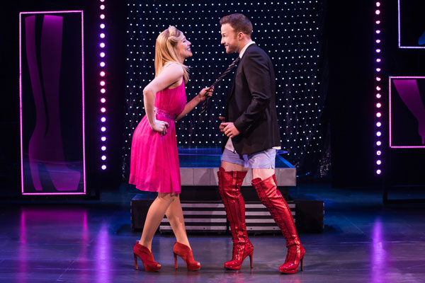 Connor Allston and Karis Gallant in the national tour of Kinky Boots