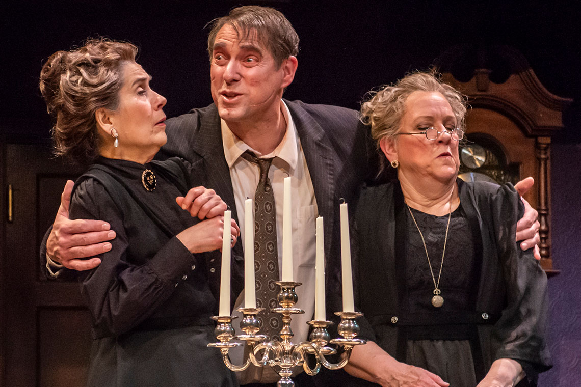 Pam Nolte, David Drummond, and Kim Lorris in Arsenic and Old Lace