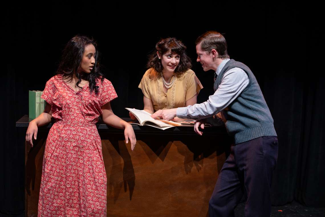 Rheanna Atendido, Miranda Antoinette Trout and Mike Spee in 'Bright Star.'