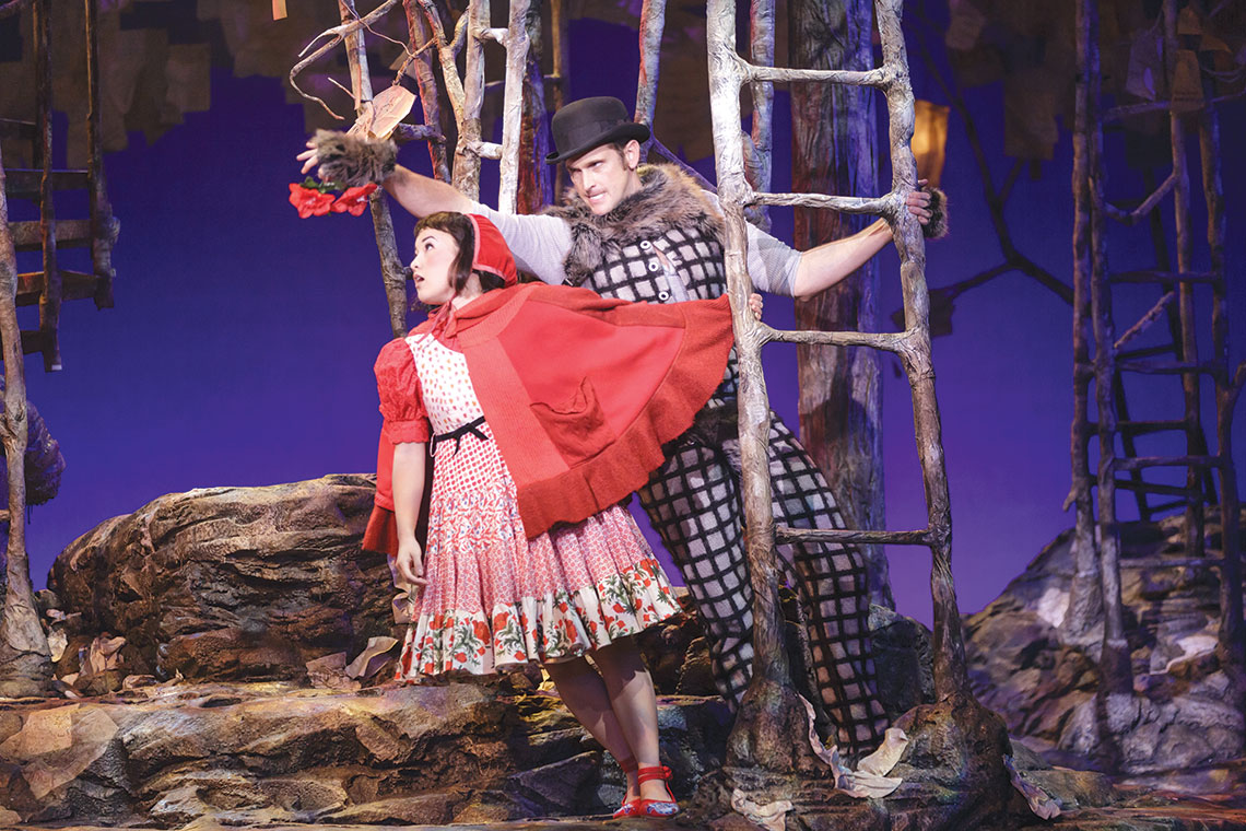 Arika Matoba and Kevin Vortmann in Into the Woods