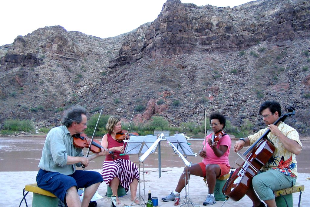 River rafting string quartet