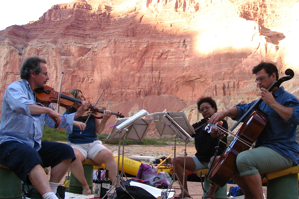 Symphonic Side Gigs: Stephen Bryant and String Quartet River Rafting