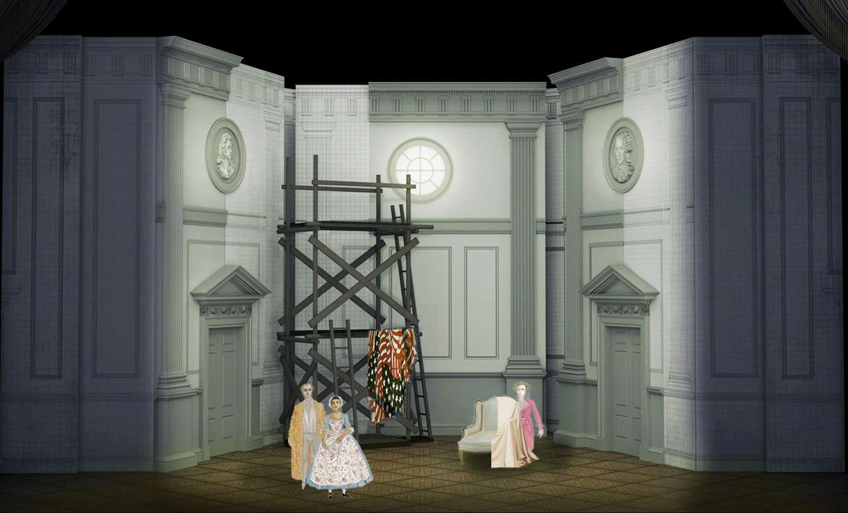 Act I set design for the Marriage of Figaro