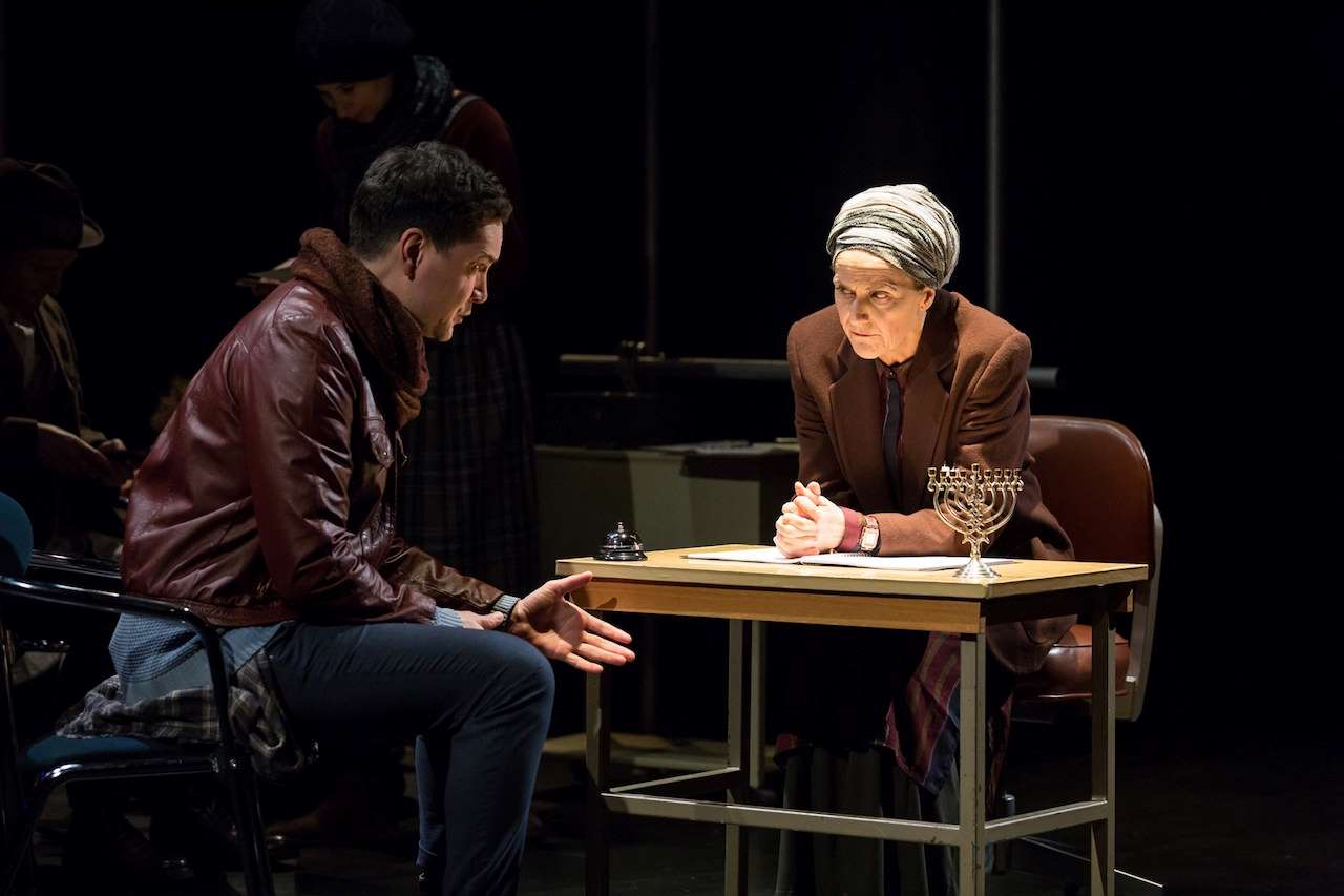 Richard Nguyen Sloniker and Amy Thone in Seattle Shakespeare Co.'s The Merchant of Venice directed by Desdemona Chiang