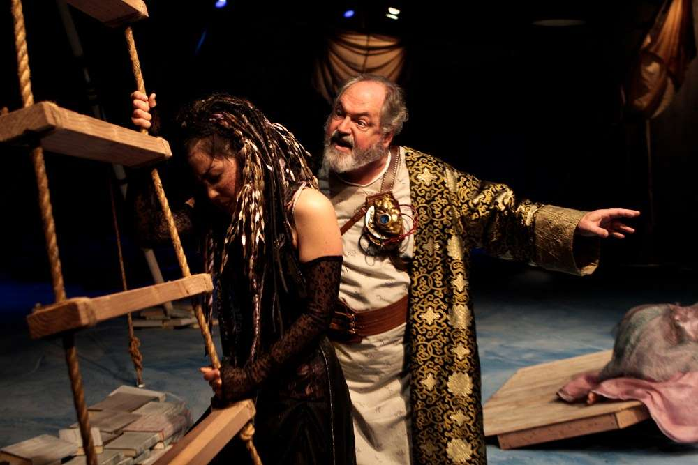 Hana Lass and Michael Winters in Seattle Shakespeare Co.'s 2009 production of the Tempest