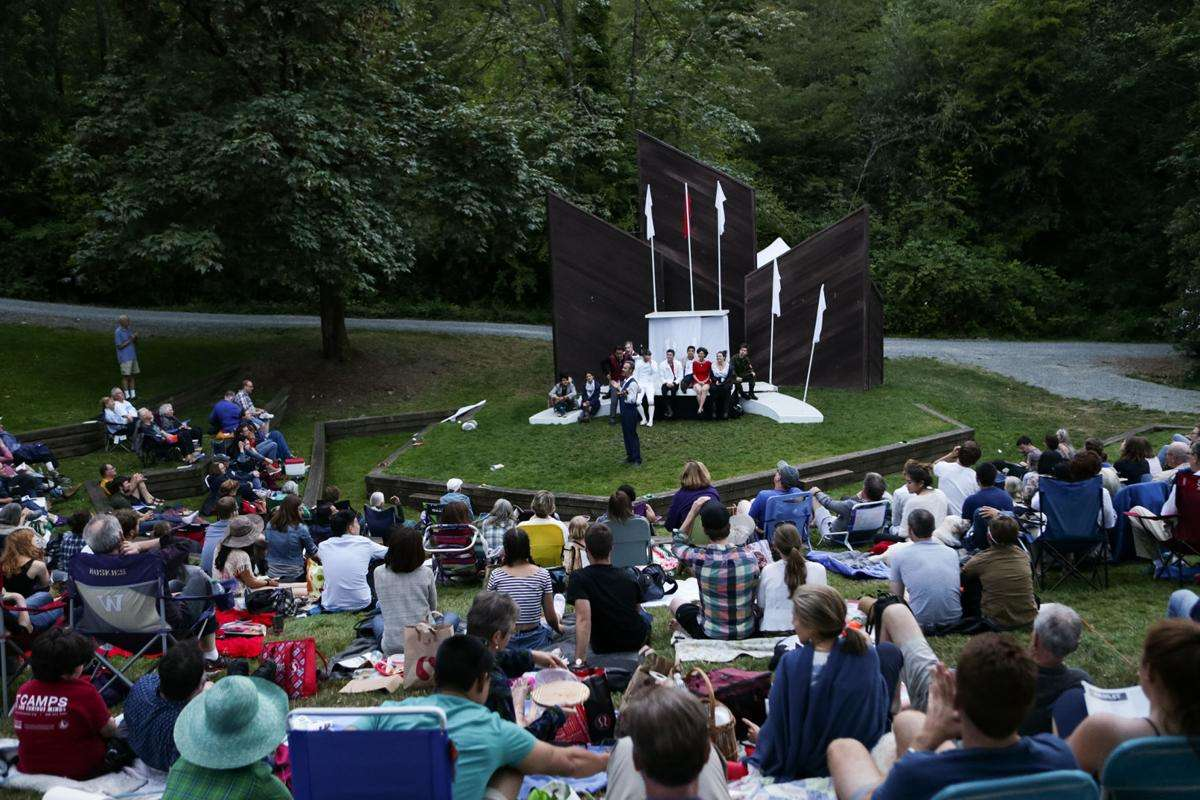 Seattle Shakespeare Company in Wooden O production of Hamlet