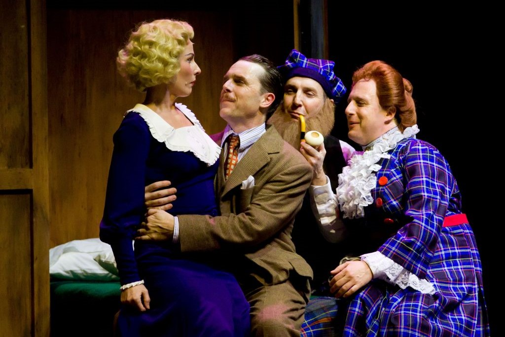Rebecca Dines, Mark Anderson Phillips, Dan Hiatt and Cassidy Brown in TheatreWorks' 2011 production of The 39 Steps