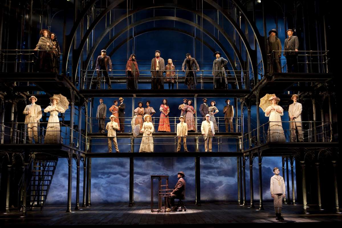 The cast of the 2009 revival of Ragtime on Broadway