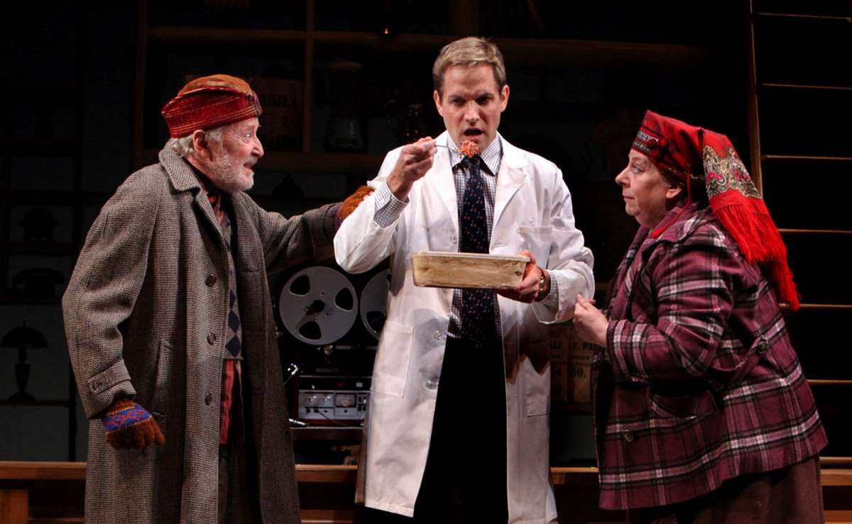 John Horton, Matt Letscher and Jayne Houdyshell in Roundabout Theatre Company's production of The Language Archive.