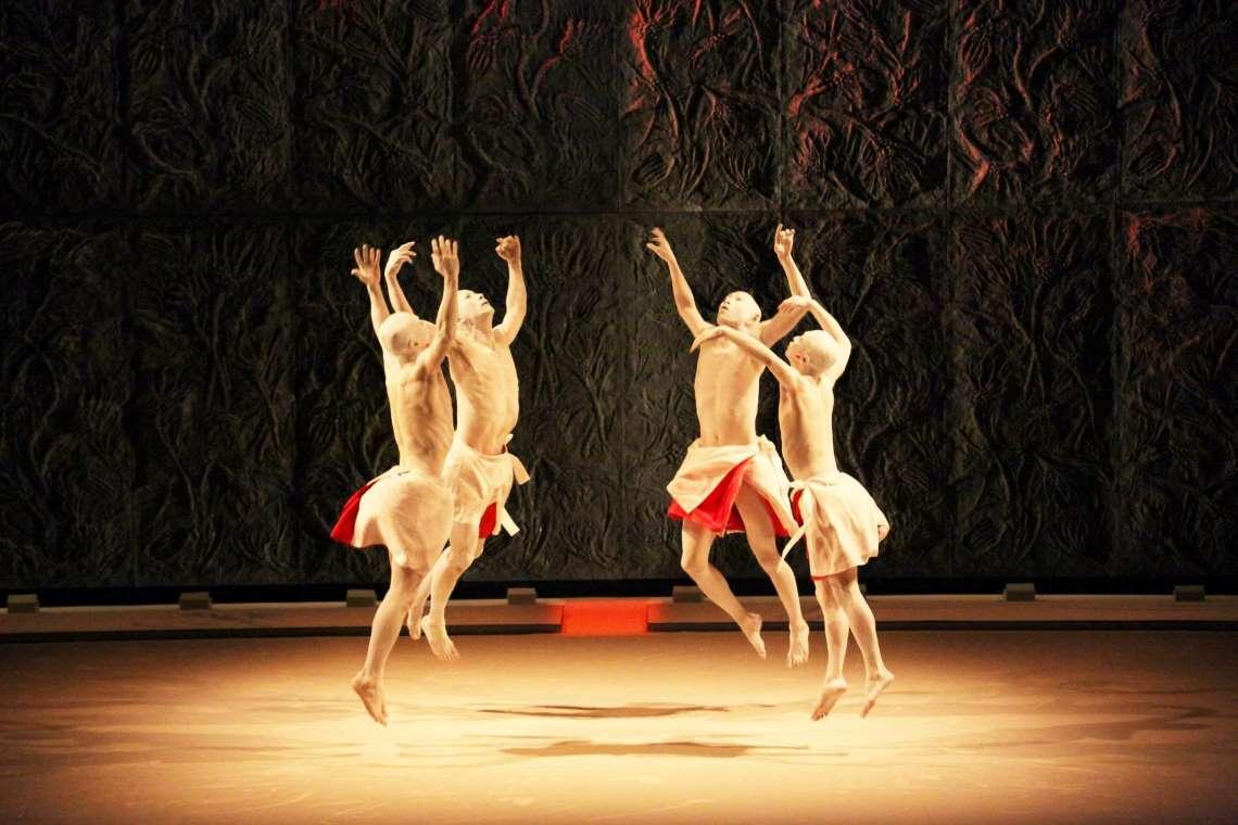 Sankai Juku performing Meguri