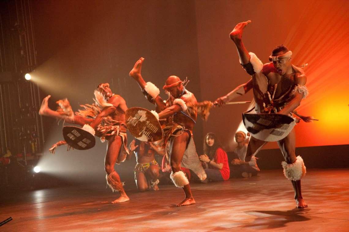 Step Afrika! performing Zulu dance