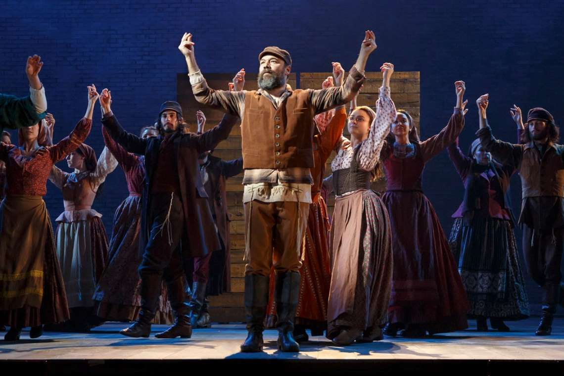 Cast of the Broadway revival of Fiddler on the Roof