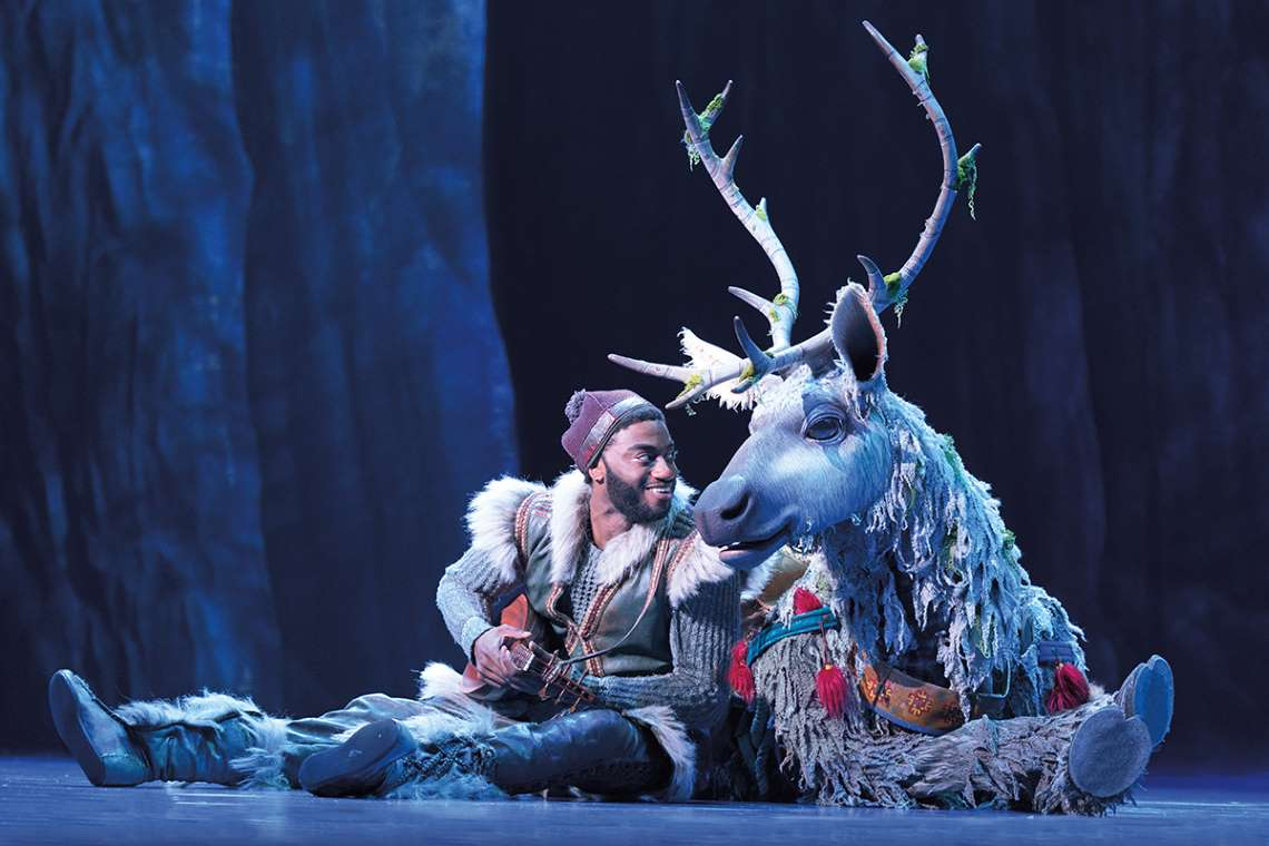 Jelani Alladin and Andrew Pirozzi in Broadway's Frozen