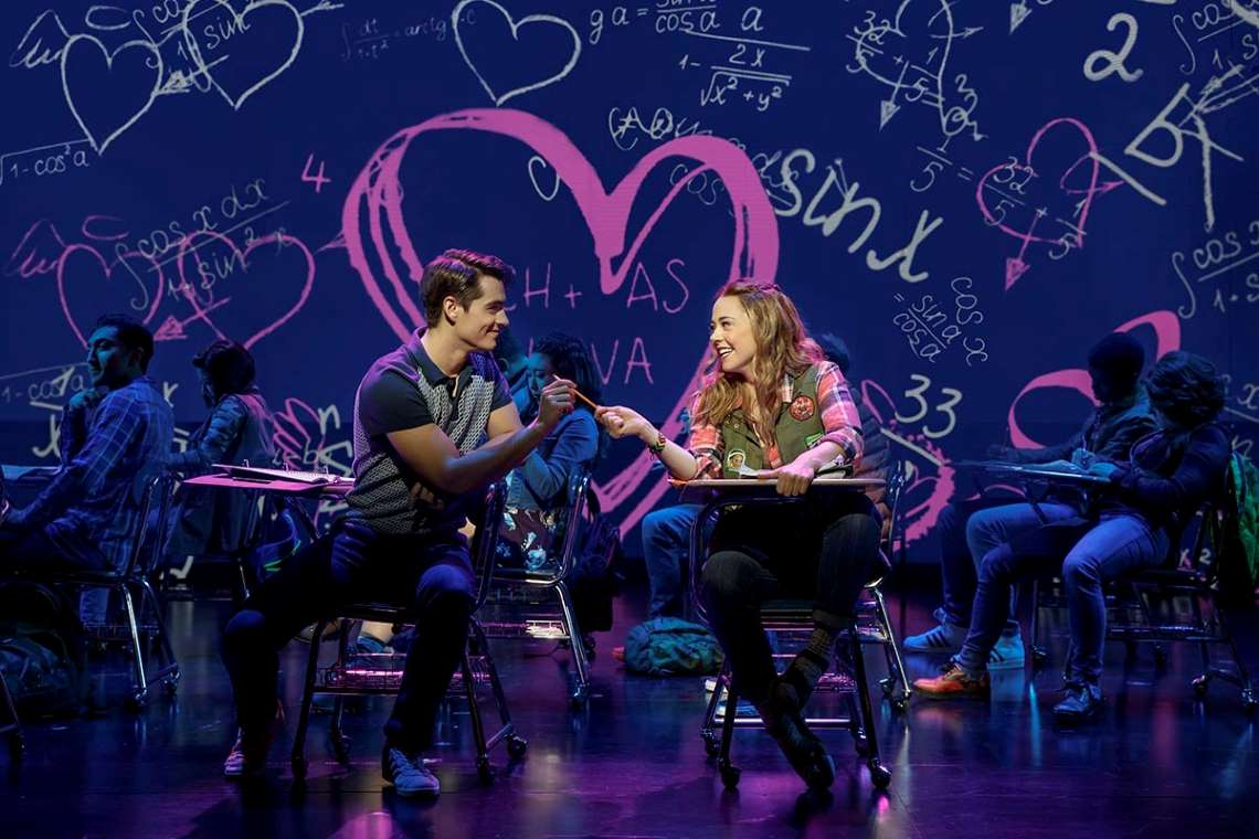 Kyle Selig and Erika Henningsen in Broadway's Mean Girls