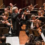 Thomast Dausgaard conducting the Seattle Symphony