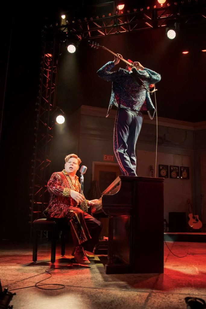 John Countryman and Skye Scott in 2019 production of 'Million Dollar Quartet.'