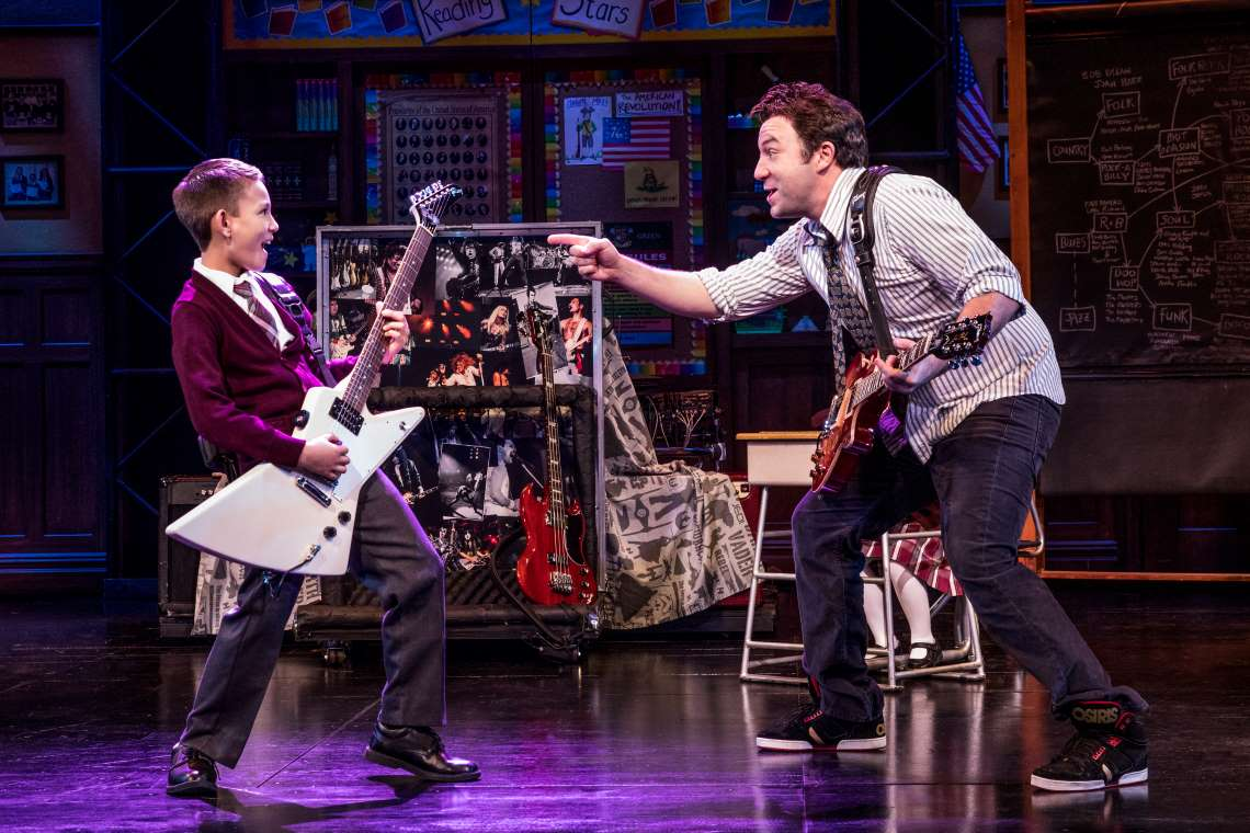 Mystic Inscho and Merritt David Janes in 'School of Rock'.