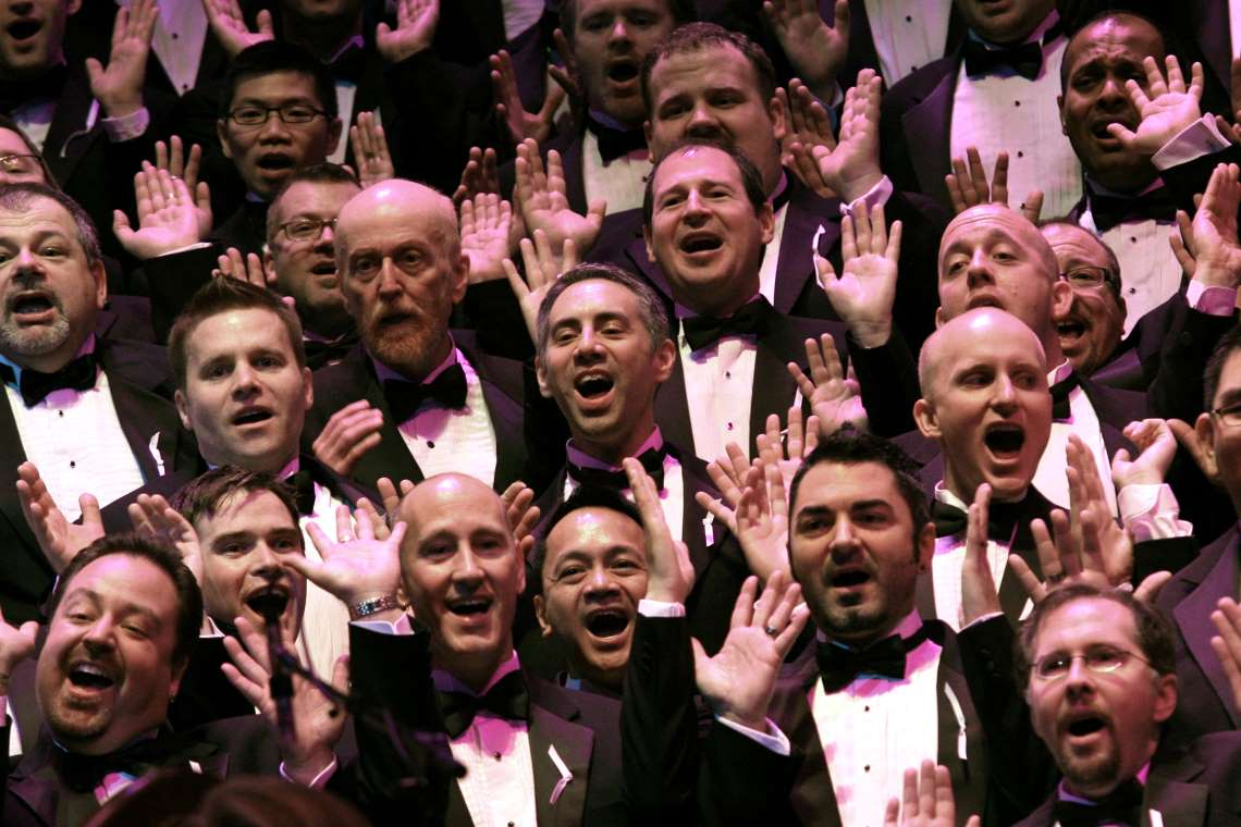 Seattle Men's Chorus performing