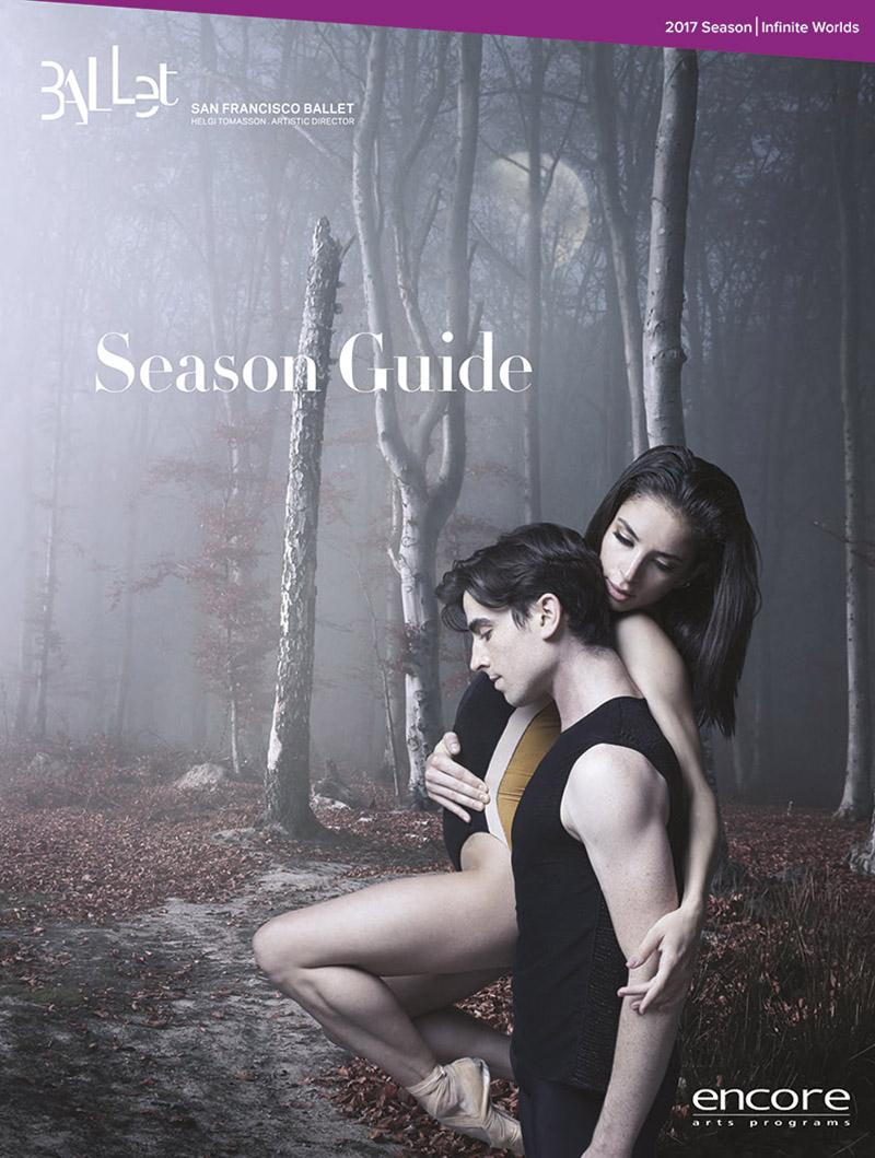 cover art for the san francisco ballet season guide 2017