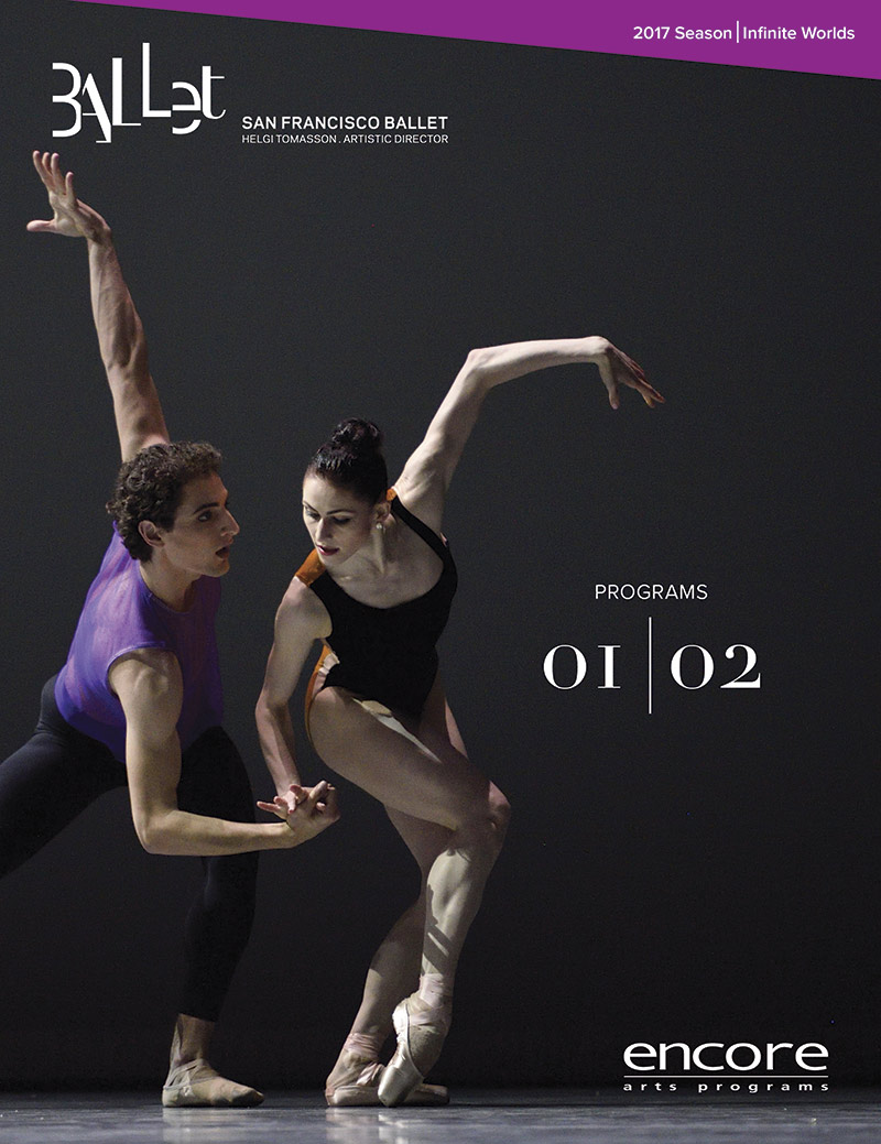 cover art for programs 1 and 2 at san francisco ballet 2017