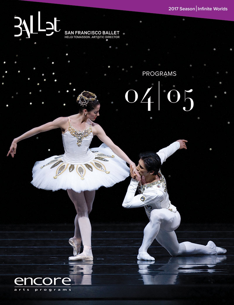 cover art for program 4 and 5 at san francisco ballet 2017