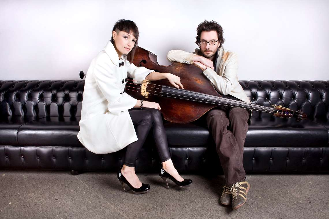 Petra Magoni and Ferruccio Spinetti of the Italian duo Musica Nuda.
