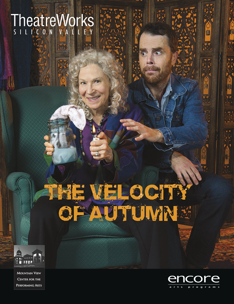 cover art for the velocity of autumn for Theatreworks 2016