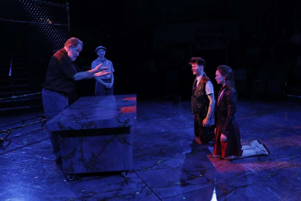 Howie Seago, Lindsay W. Evans, Joshua Castille and Gabriella O' Fallon in 'Romeo & Juliet' at ACT.